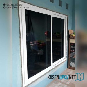 model jendela upvc jungkit conch warna putih project Duren Sawit id7581