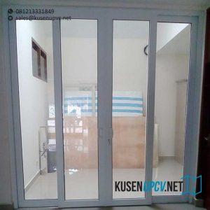 pintu upvc sliding conch warna putih di Pesanggrahan id9048