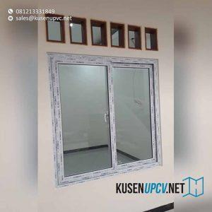 Gambar jendela upvc model sliding warna putih Ciputat
