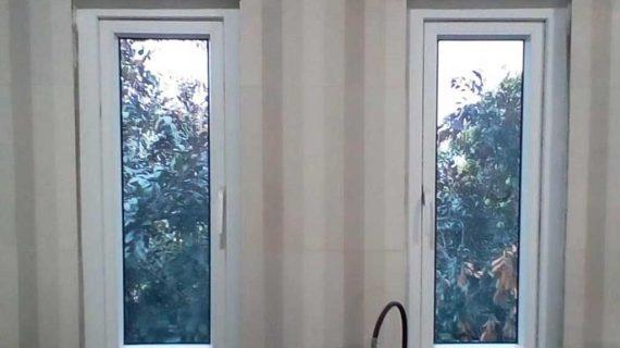 Jual jendela upvc swing warna putih klein Tebet Jakarta