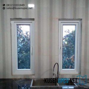 pasang jendela upvc swing warna putih id8493