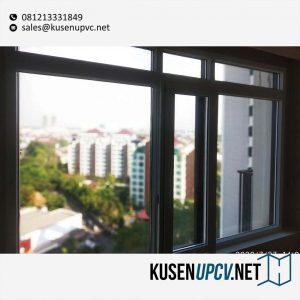 Jual Jendela UPVC Sliding Warna Putih Hampton's Park Apartment Cilandak Jakarta id5670