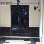 Jual Jendela UPVC Swing Warna Coklat Lengkong Gudang Timur Serpong Tangerang