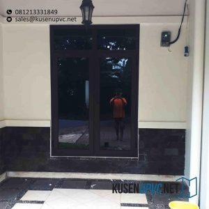 Jual Jendela UPVC Swing Warna Coklat Lengkong Gudang Timur Serpong Tangerang id5857