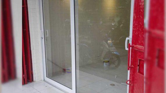 Pintu UPVC Sliding Putih Klien Krendang Tambora Jakarta