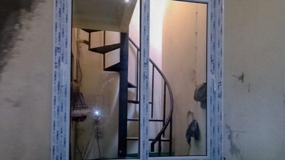 Jendela UPVC Sliding Putih Perumahan Nuansa Asri Cipadu Pondok Aren Tangerang